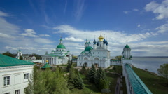Dimitrievsky Cathedral and Zachatievsky Cathedral of the Spaso-Yakovlevsky Stock Footage