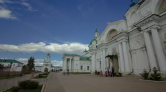Dimitrievsky Cathedral and Zachatievsky Cathedral of the Spaso-Yakovlevsky Stock Footage