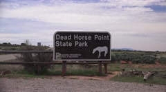 Dead Horse Point State Park sign Stock Footage