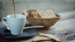 Coffee, pour, breakfast, Stock Footage