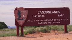 Canyonlands NATIONAL PARK ,establishing sign - stock footage