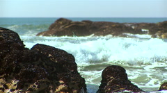 Beach of atlantic coast. Portugal. - stock footage