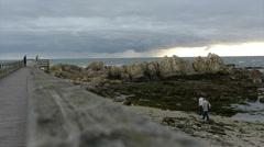 Beach of atlantic coast. Portugal. Stock Footage