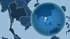 Thailand and Globe. Solids Stock Footage