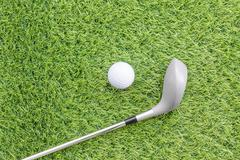 Sport objects related to golf equipment - stock photo