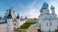 Tip view of the assumption Cathedral of the Kremlin of Rostov the Great Stock Footage