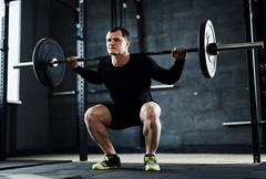 Training in gym - stock photo