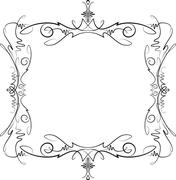 Unusual, decorative lace ornament, vintage frame with empty place for your te - stock illustration