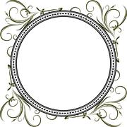 Unusual round vintage floral frame for your design. Vector illustration. - stock illustration