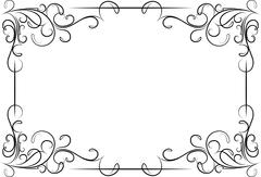 Unusual, decorative lace ornament, vintage frame with empty place for your te Stock Illustration