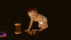 Baby Wound - stock footage
