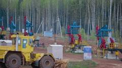 Fossil Fuel Energy PumpJack Oil Pump Stock Footage