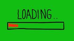 Loading. Hand drawn animation of progress bar Stock Footage