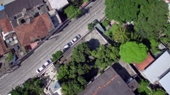 Aerial Santa Teresa neighbourhood Rio de Janeiro Stock Footage