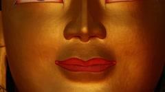 Maitreya statue head Stock Footage