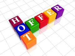 colour hot offer like crossword - stock illustration