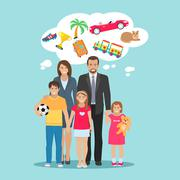 Family Dreams Illustration Stock Illustration