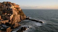 Manarola, Liguria, Italy, EU, Europe Stock Footage