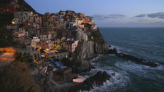 Manarola, Liguria, Italy, EU, Europe - stock footage