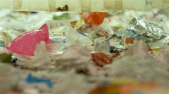 Human waste treatment center: garbage separation and treatment. Recycling center - stock footage