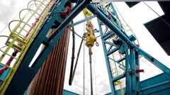 Indoor Drilling RIg Stock Footage