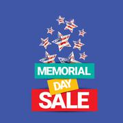 vector memorial day sale banner - stock illustration
