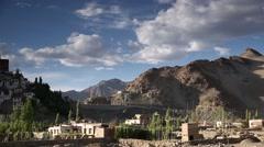 Panorama Thikse Monastery Stock Footage