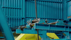 Winch system of drilling rig Stock Footage