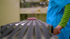 Manufactures industrial textiles - packing. Stock Footage