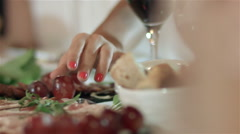 Typical gastronomy from Bragança - Portugal. Stock Footage