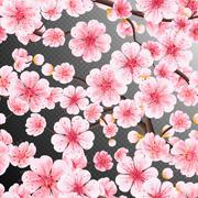 Seamless of pink Sakura. EPS 10 - stock illustration