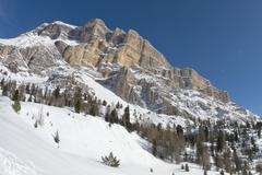 Mountain Dolomites panorama - stock photo