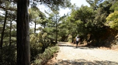 Trail E4 in Cyprus - stock footage