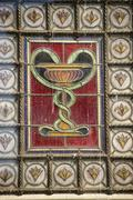 Pharmacy old medieval sign in florence Stock Photos