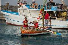 "ACI TREZZA, ITALY - JUNE, 24 2014 - San Giovanni traditional parade with ""pis - stock photo"