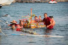 "ACI TREZZA, ITALY - JUNE, 24 2014 - San Giovanni traditional parade with ""pis - stock photo"