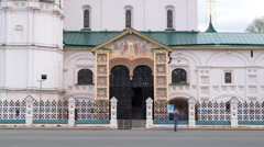 Yaroslavl, Russia, the church of Elijah the Prophet Ilia Prorok in Yaroslavl Stock Footage
