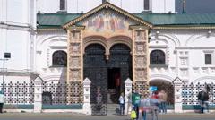 Yaroslavl, Russia, the church of Elijah the Prophet Ilia Prorok in Yaroslavl Stock Footage