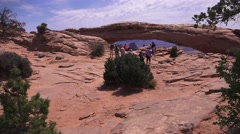 ARCHES NATIONAL PARK, Canyonland Mesa Arch Stock Footage
