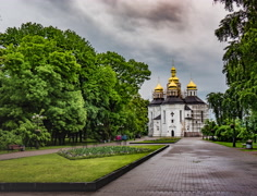 Catherine's Church in Chernihiv Stock Footage