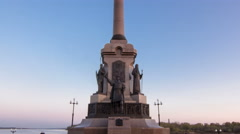The monument to the 1000th anniversary of Yaroslavl timelapse hyperlapse Stock Footage