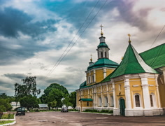 Refectory Church of the Trinity Cathedral in Chernigov Stock Footage