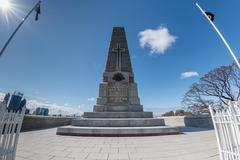 PERTH, AUSTRALIA, AUGUST, 18 2015 -  Visitors at II world war memorial - stock photo
