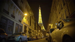 Millions of lights sparkling brightly on Eiffel Tower, romantic night in Paris - stock footage