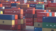 Containers at Buenos Aires container port, Argentina - stock footage