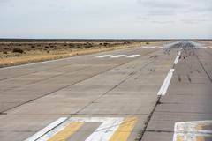Trelew patagonia airport Landing and take off Zone - stock photo