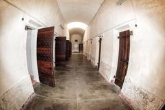 PERTH - AUSTRALIA - AUGUST, 20 2015 - Punishement cell. Fremantle Prison was  Stock Photos