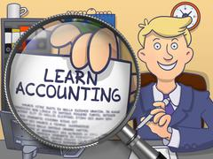 Learn Accounting through Lens. Doodle Concept Stock Illustration