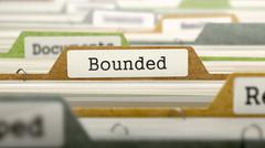 Bounded on Business Folder in Catalog - stock illustration