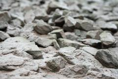 White and grey river rocks backround Stock Photos